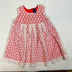 3/$20 OLD NAVY Girls Lacy Dress 18-24 M